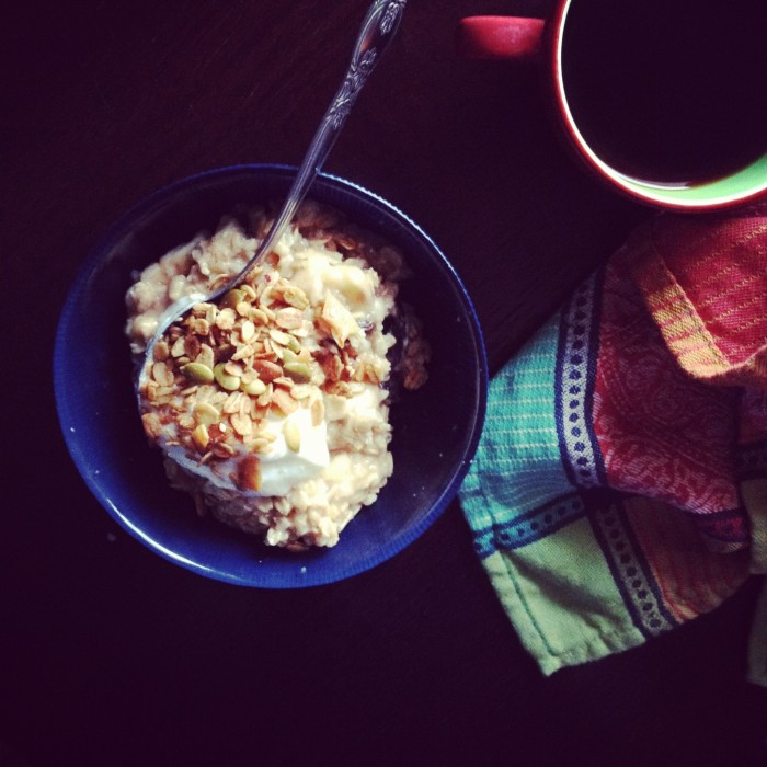 oats with granola