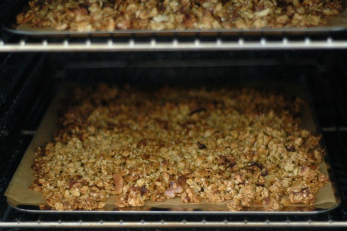granola, baking
