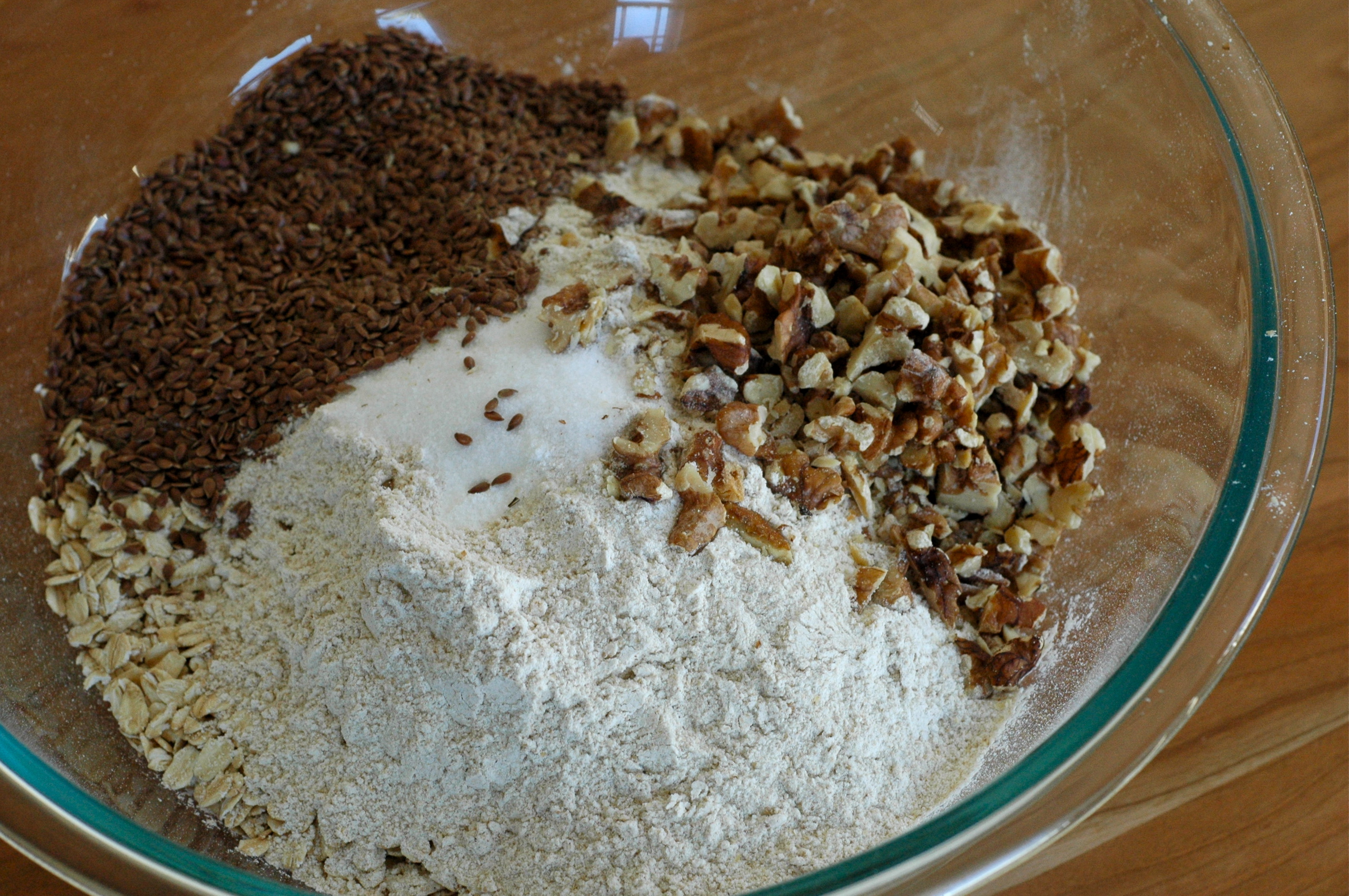 dry ingredients for oatcakes