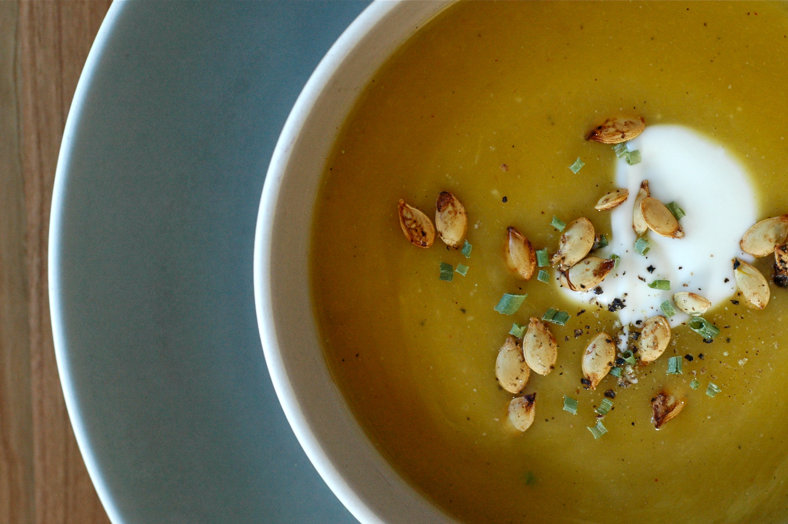 Squash Soup with Toasty Seeds