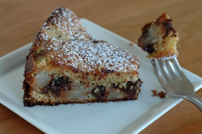 Chocolate + Pear Cake