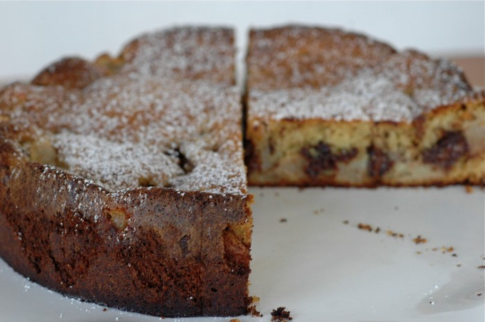 Chocolate + Pear Cake