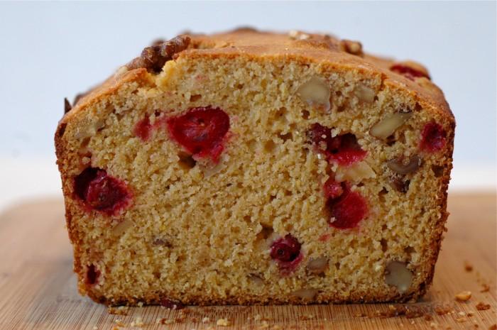 Honey Cranberry Cornmeal Quick Bread