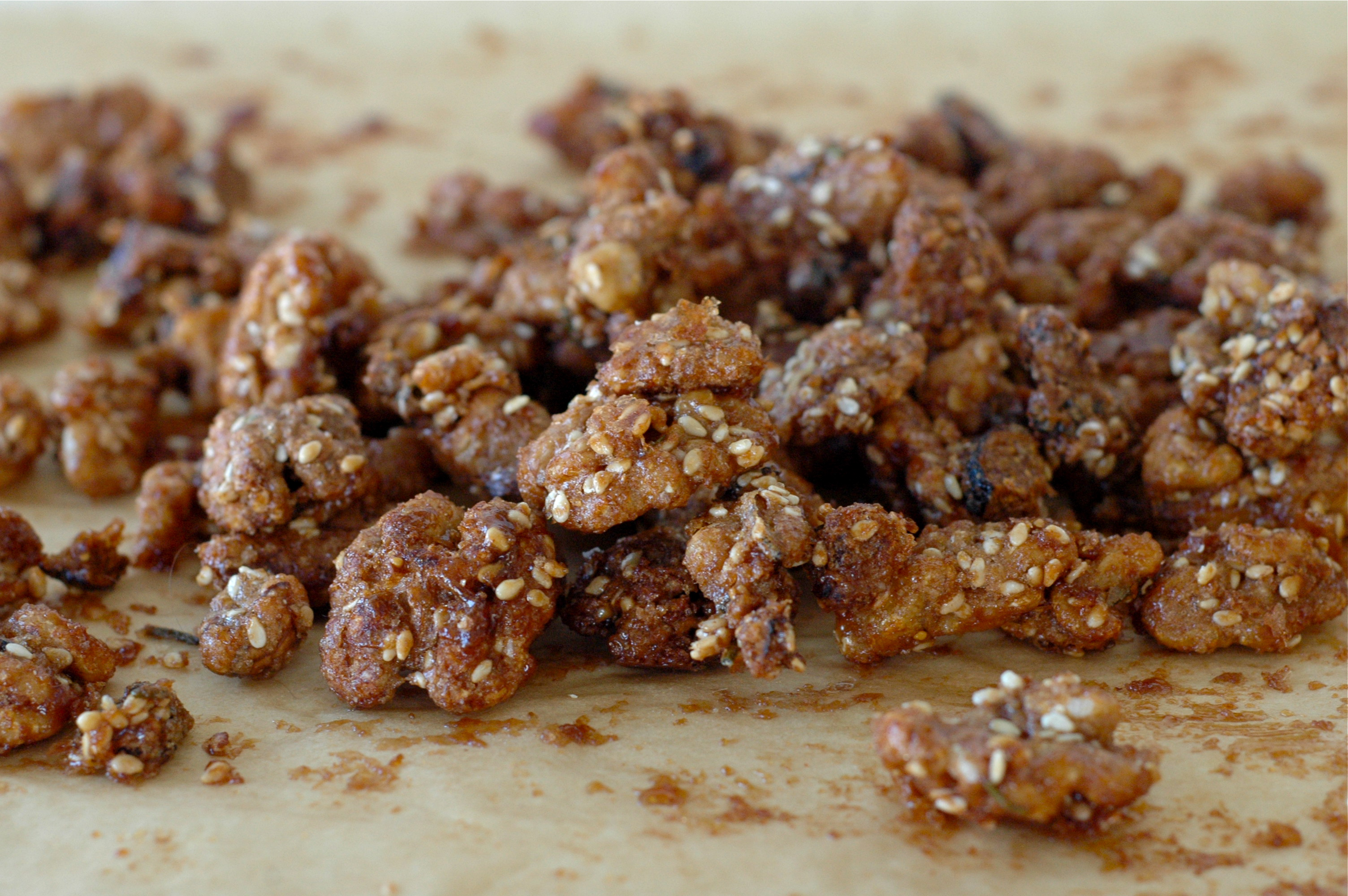 Brown Sugar Rosemary Walnuts | Delightful Crumb