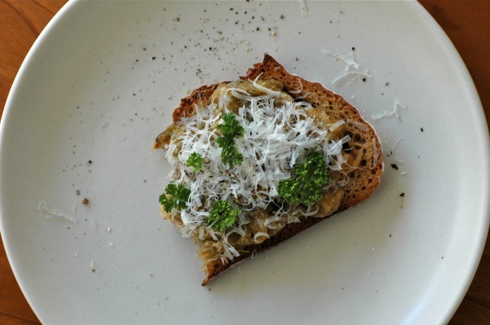 Tamar's Pesto on Toast