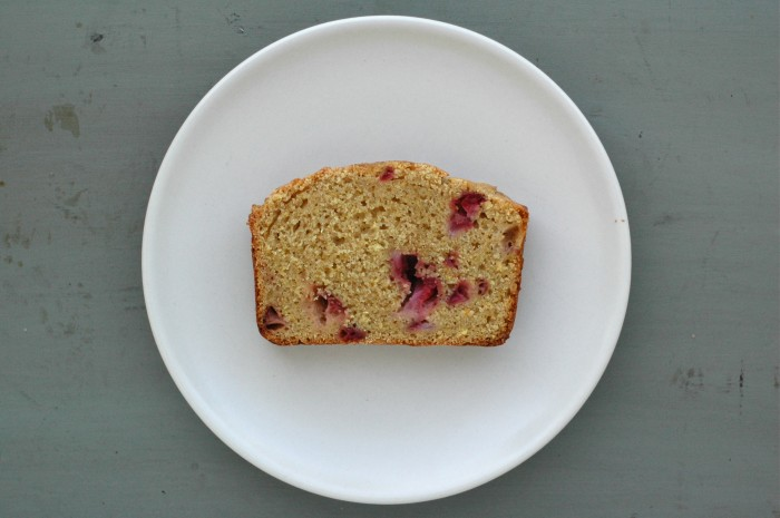 Strawberry Cornmeal Loaf // Delightful Crumb