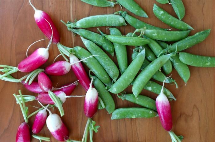 Snap Peas & Radishes // Delightful Crumb