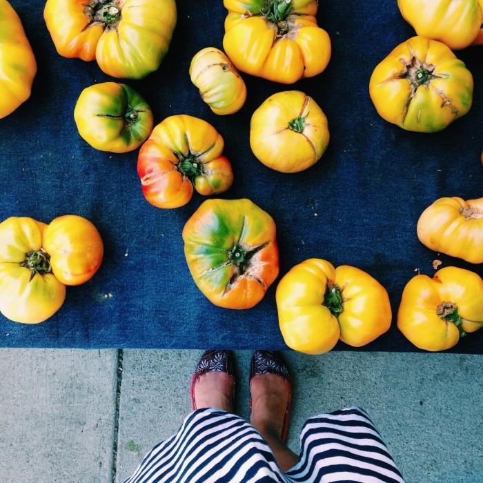 Market tomatoes | Delightful Crumb