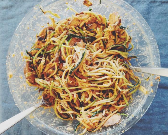 Zucchini noodles | Delightful Crumb