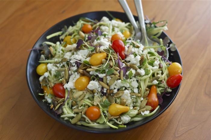 Tahini Zucchini Noodles | Delightful Crumb