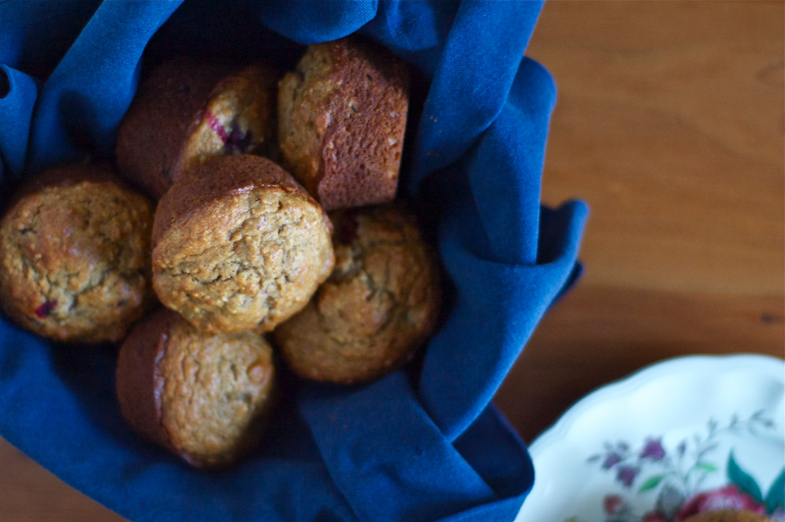 Whole Grain Cranberry & Chocolate Muffins // Delightful Crumb