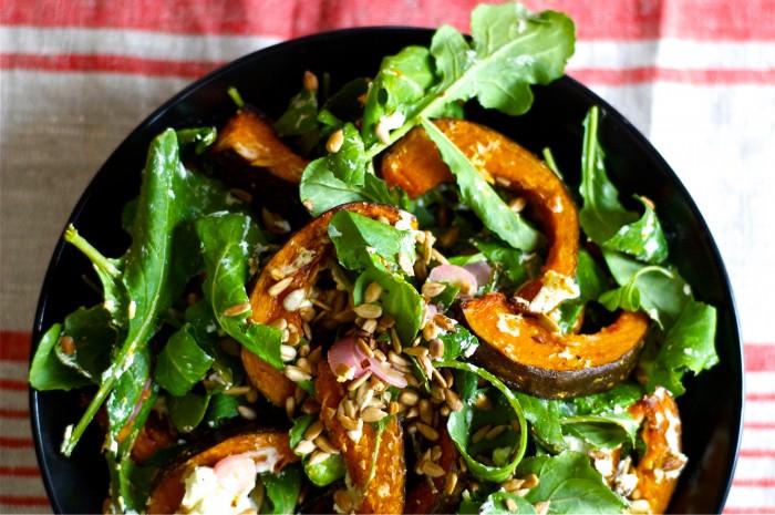 Roasted Kabocha Squash Salad | Delightful Crumb