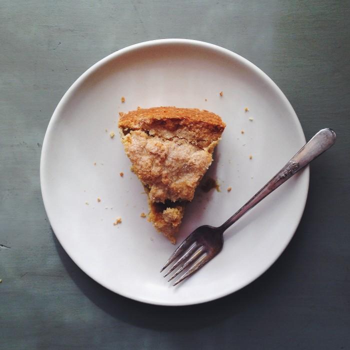 Rhubarb Polenta Cake | Delightful Crumb