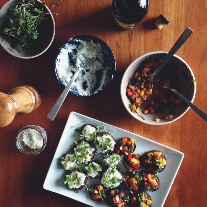 Eggplant Rounds | Delightful Crumb