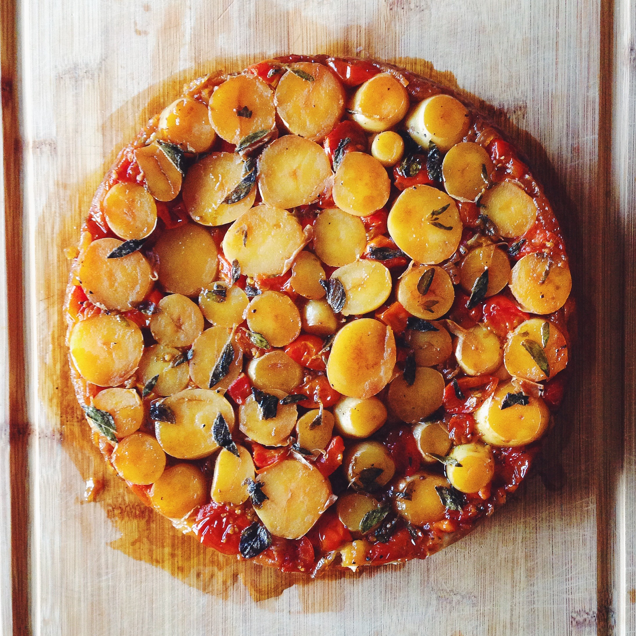 New Potato & Tomato Tatin | Delightful Crumb