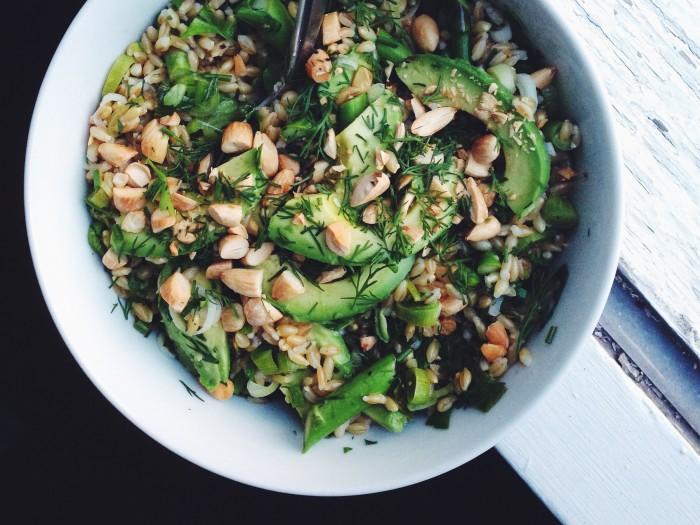 Barley Salad with Asparagus & Herbs | Delightful Crumb