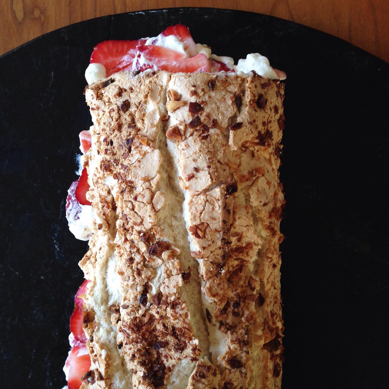 Meringue with Berries & Cream | Delightful Crumb