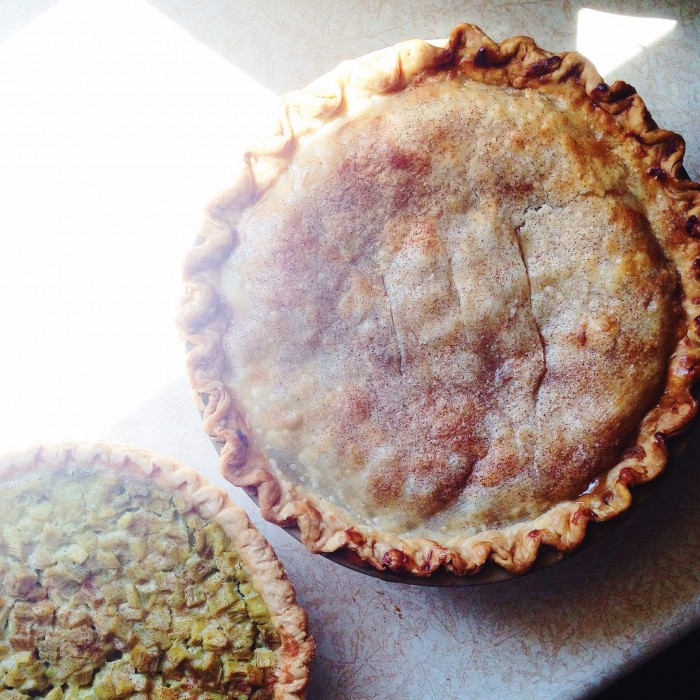 Rhubarb pie | Delightful Crumb