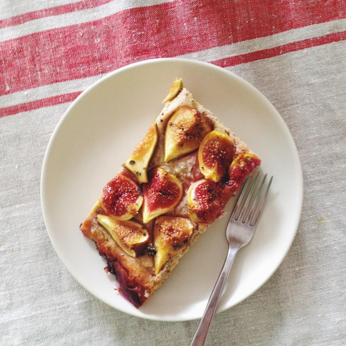 Yeasted Fig & Goat Cheese Tart   Delightful Crumb