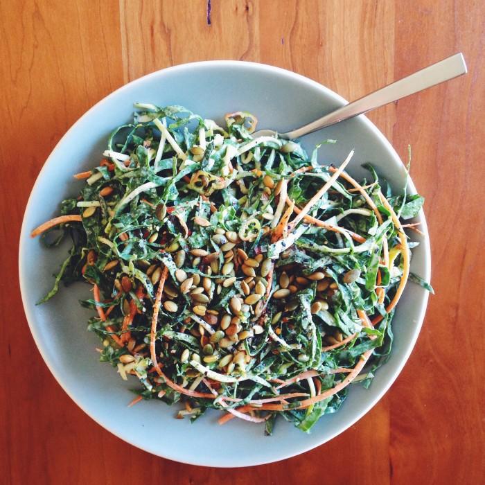 Kale & Tahini Salad | Delightful Crumb