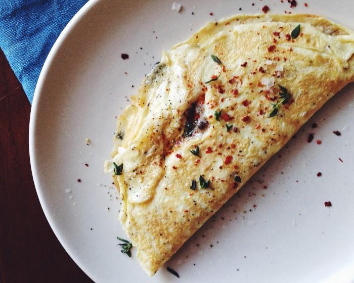 One-Egg Omelet   Delightful Crumb