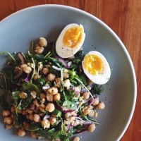 The Little Orange Kitchen | Warm Chickpea Salad with Arugula