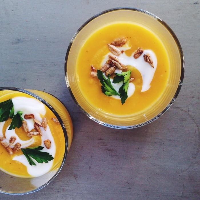 Gingered Delicata Squash Soup | Delightful Crumb