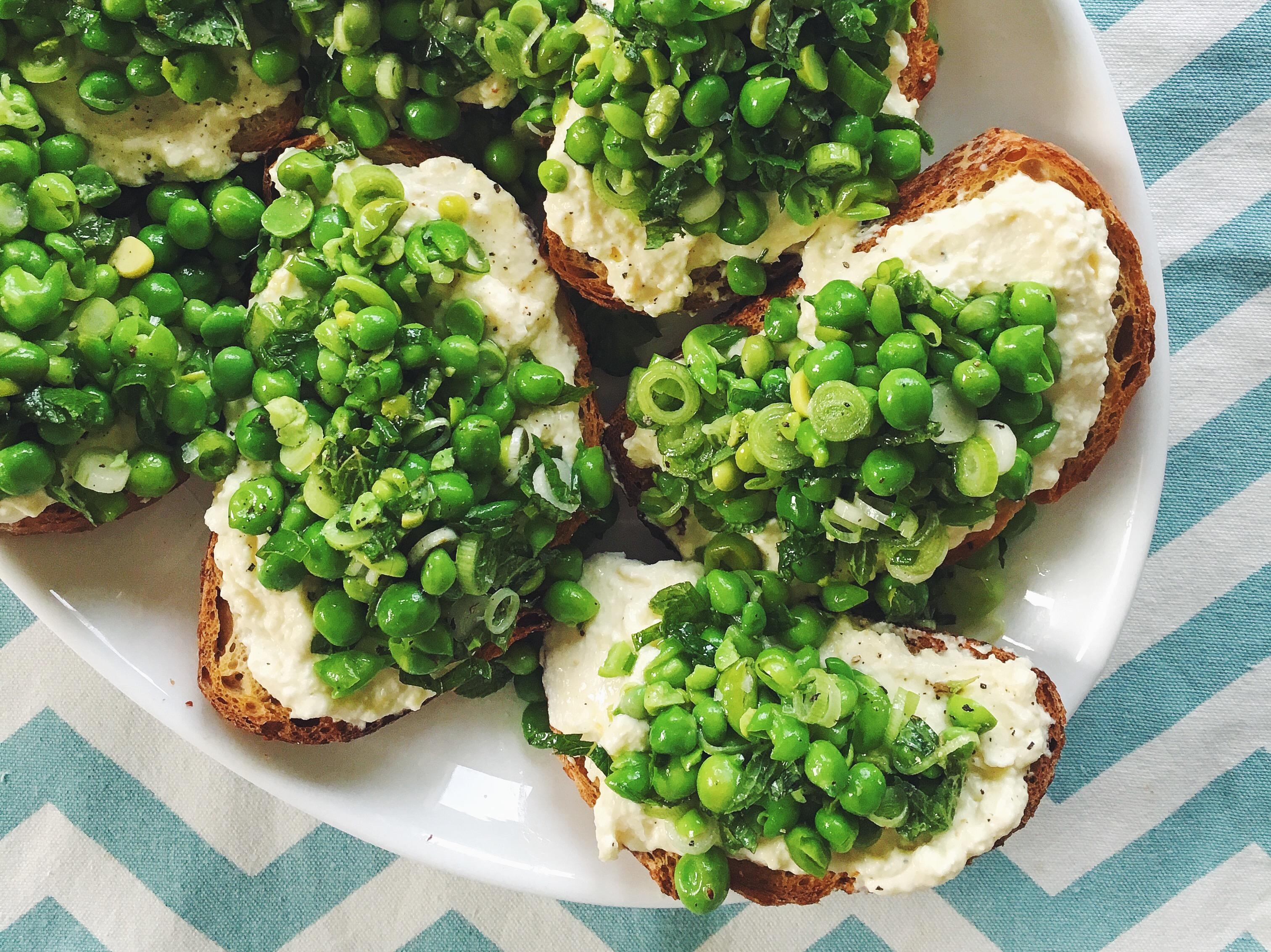 Spring Pea & Ricotta Toast | Delightful Crumb
