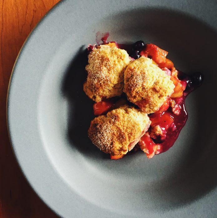 Peach Scone Cobbler | Delightful Crumb