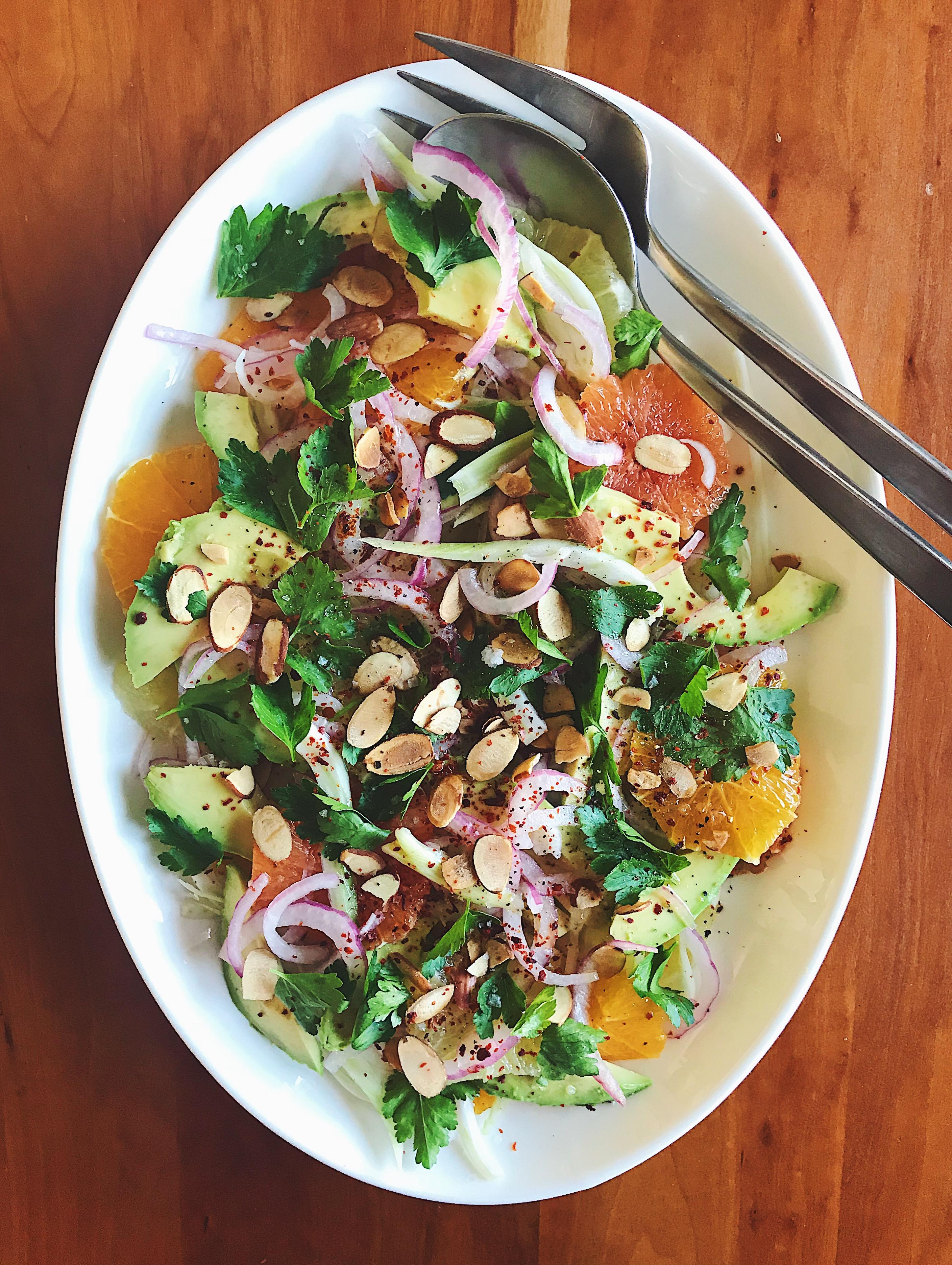 Avocado Citrus Salad | Delightful Crumb