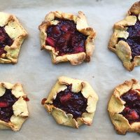 Live the Questions | Rustic Rhubarb Tarts