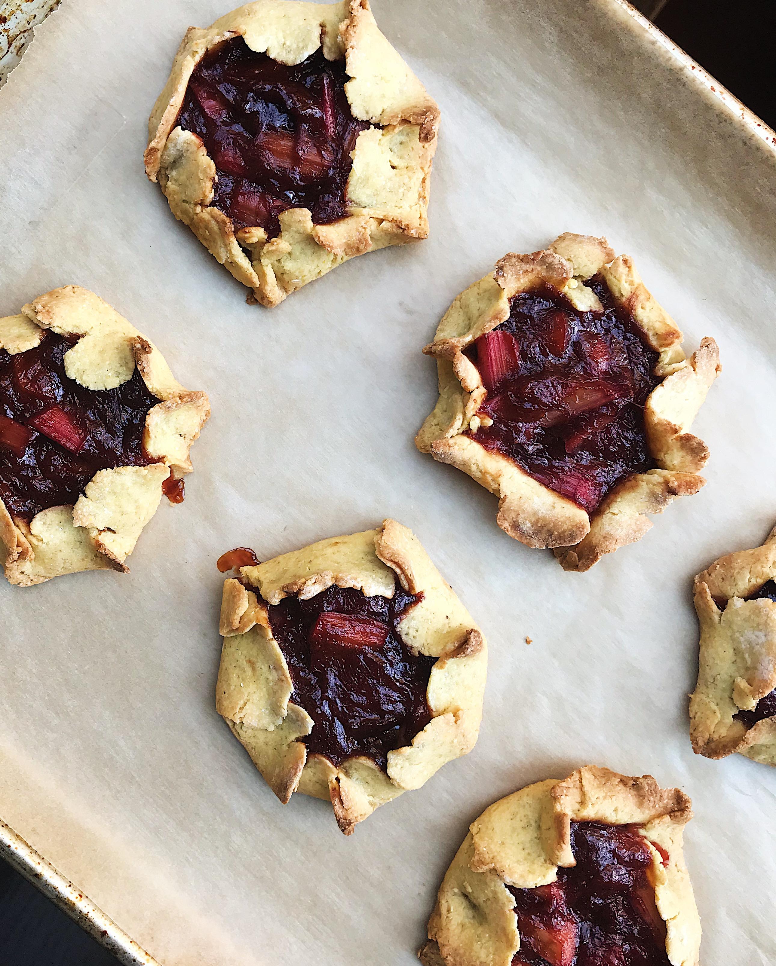 Rustic Rhubarb Tarts | Delightful Crumb