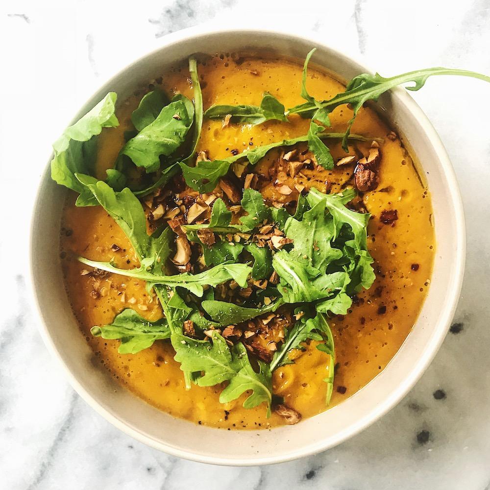 Sweet Potato Soup   Delightful Crumb