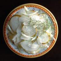 the in between: fennel + pear salad