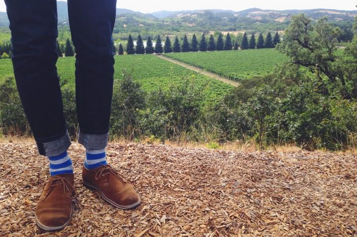 socks & view | Delightful Crumb
