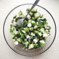 Obsessed with simplicity | Cucumber, Feta & Mint Salad