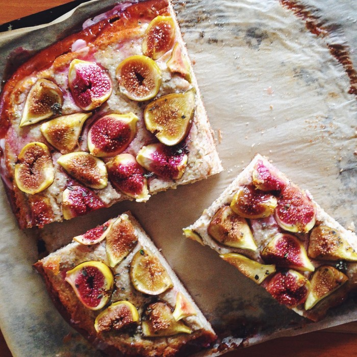 Yeasted Fig & Goat Cheese Tart | Delightful Crumb