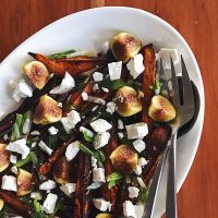 Something In Between | Roasted Sweet Potatoes with Figs