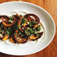 Cooking on the Road | Roasted Squash with Yogurt & Gremolata